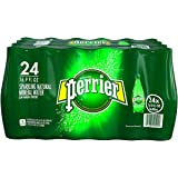 PERRIER Sparkling Mineral Water, 16.9-Ounce Plastic Bottles - Count 24 - Pack of 2