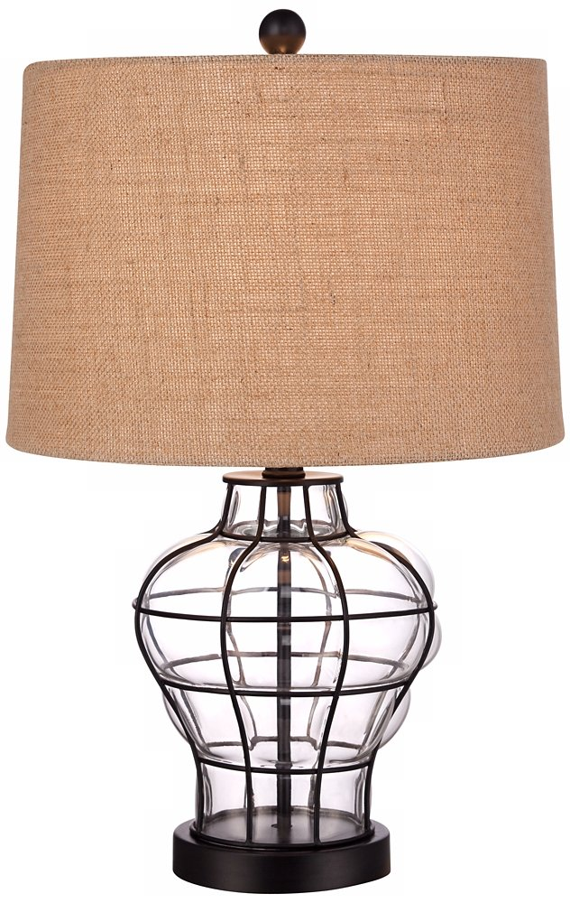 Croyton 22 High Clear Blown Glass Table Lamp