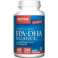 Jarrow Formulas EPA-DHA Balance Odorless Caps, Boosts Brain Function, 240 Softgels