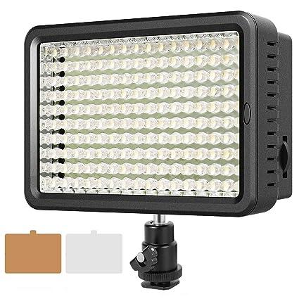 ESDDI - Panel de luz LED para cámara (160 ledes, Intensidad ...