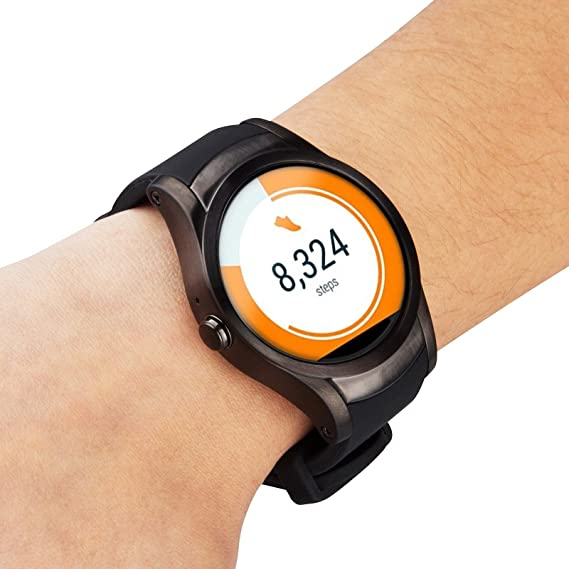 Amazon.com: Wear24 Android Wear 2.0 42mm 4G LTE WiFi+Bluetooth Smartwatch (Gunmetal Black): Cell Phones & Accessories