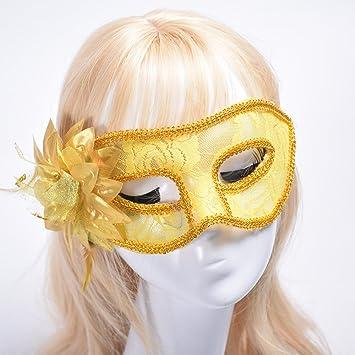 Dusenly Máscara de Encaje Sexy para Mujer, máscara Veneciana ...