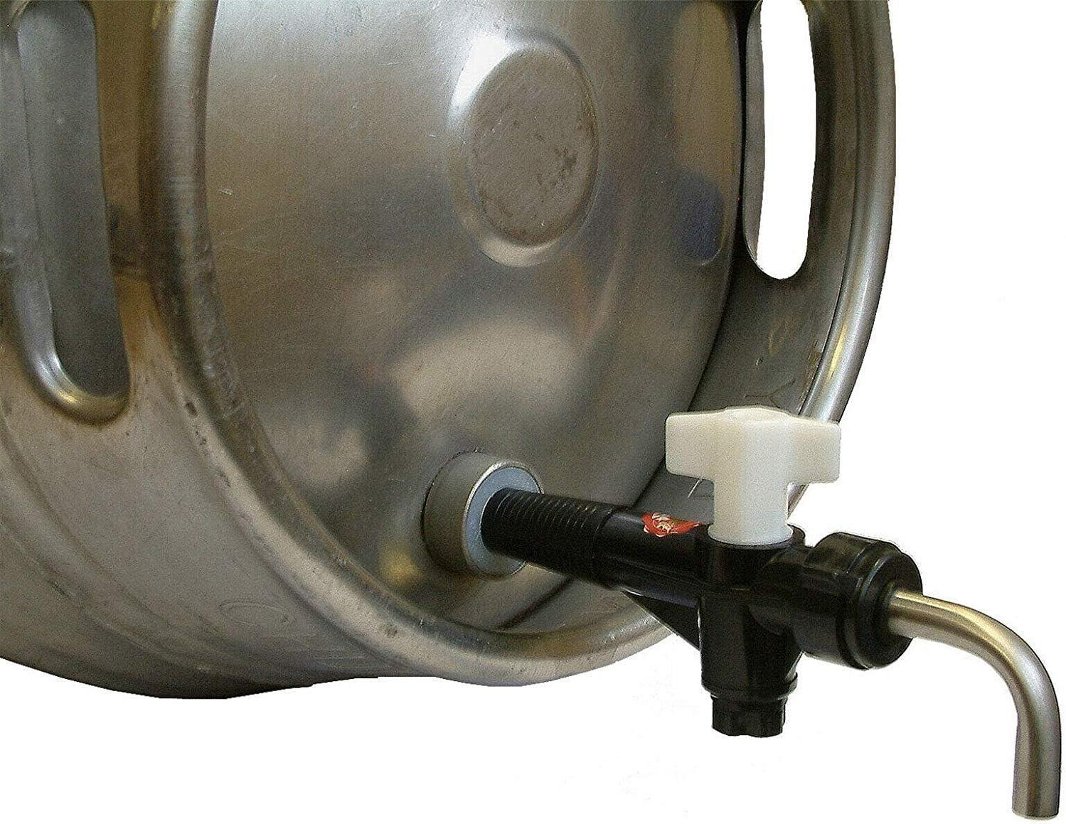 We Can Source It Ltd – Cask Ale Tap Barril de Cerveza, Barril de Barril de Barril de Cerveza, Grifo de Rosca y colador de lúpulo