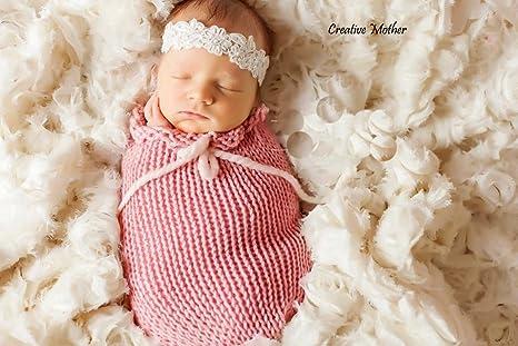 Madre creativa Navidad capullo saco para niño recién nacido niña algodón punto ganchillo fotografía Prop (