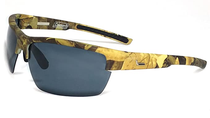 b83ffa18ffc Image Unavailable. Image not available for. Color  Coleman Raptor  Camouflage Polarized Sunglasses Shield ...