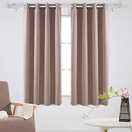 Deconovo Grommet Top Blackout Curtains Thermal Insulated Room Darkening  Curtains Window Drapes For Office 52W X