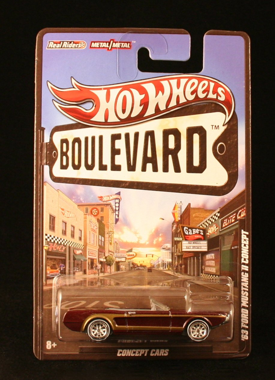 '63 FORD MUSTANG II CONCEPT  CONCEPT CARS  Hot Wheels 2012 BOULEVARD SERIES 1:64 Scale Die-Cast Vehicle