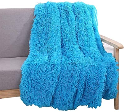 WAQIA HOUSE Premium Sherpa Throw Blanket Couch, Sofa Soft Micro Plush Reversible Throw Faux Fur Lightweight All Season Blanket (63''x79'')