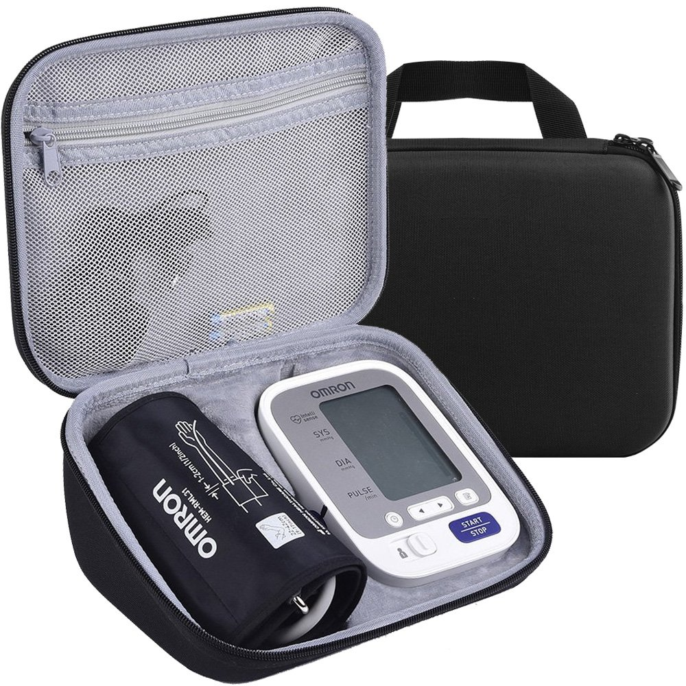 PAIYULE Portable Waterproof Carrying Case for Omron BP742N 5 Series Upper Arm Blood Pressure Monitor for Daily Use & Travel