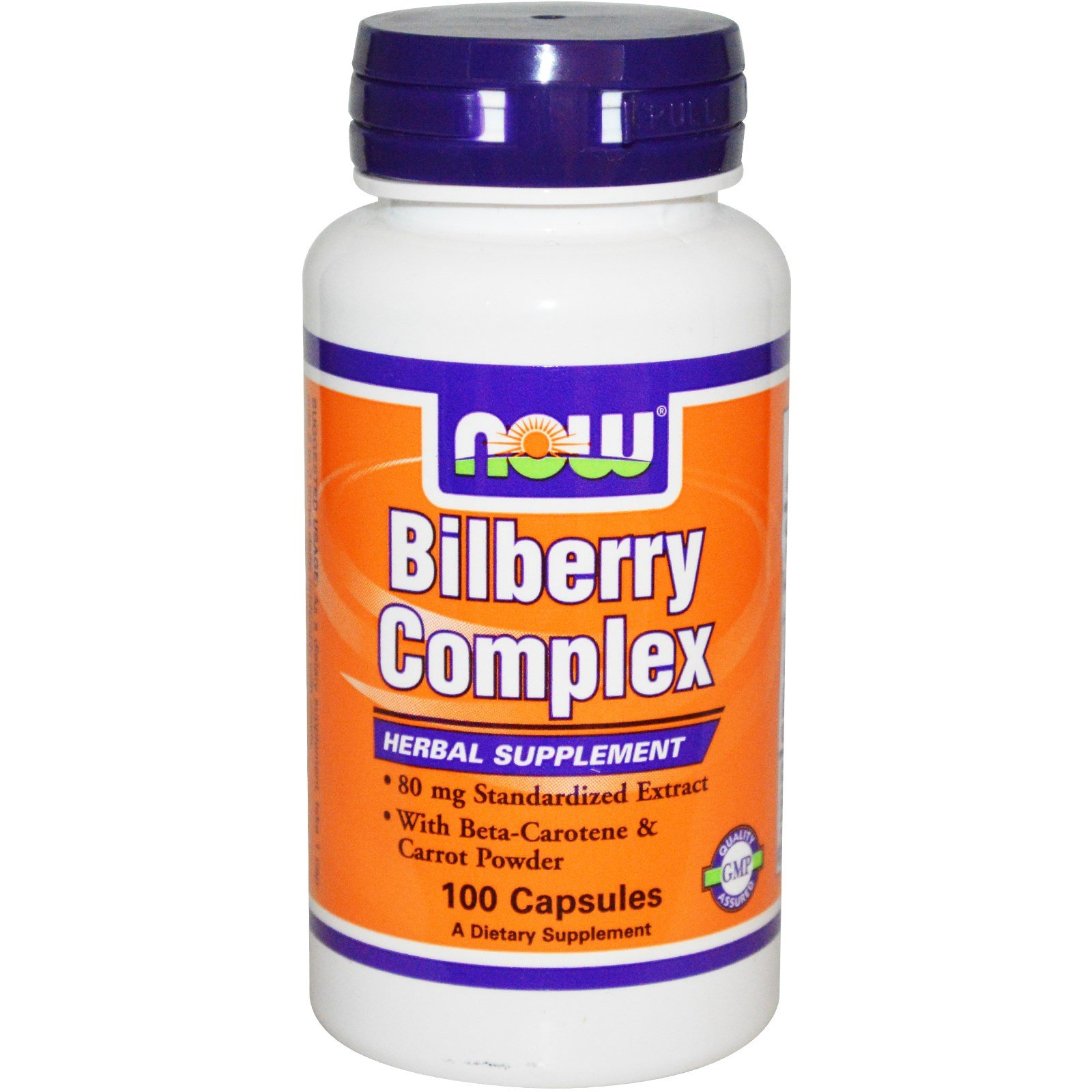 Now Foods Bilberry Complex 80mg - 100 Caps 12 Pack