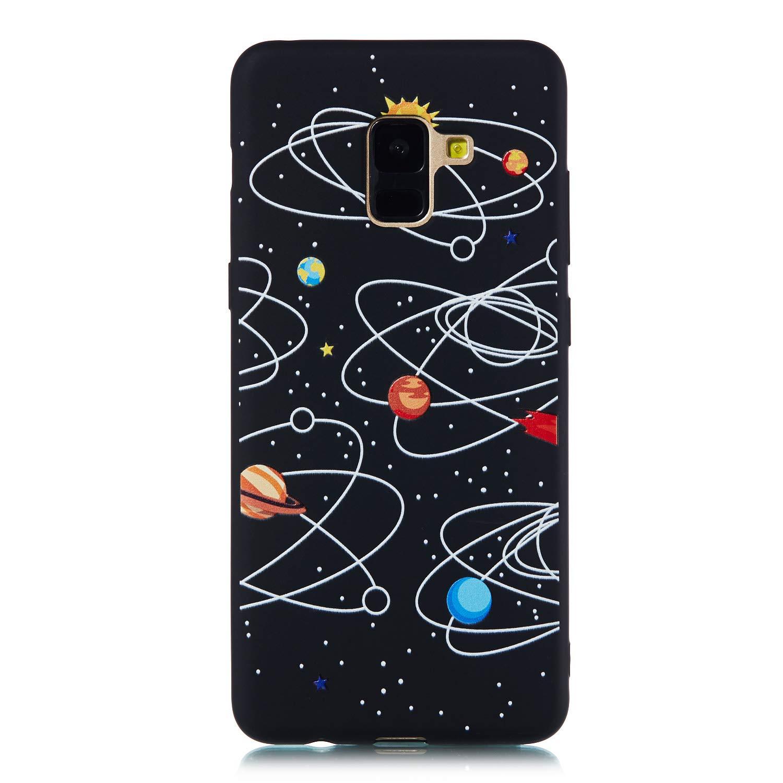 Dream Big Everainy Kompatibel f/ür Samsung Galaxy A8 2018 H/ülle Silikon Bumper Gummi Kreativ Cover H/üllen f/ür Galaxy A8 2018 Handyh/ülle Sto/ßfest TPU Sto/ßstange Schwarz Schutzh/ülle