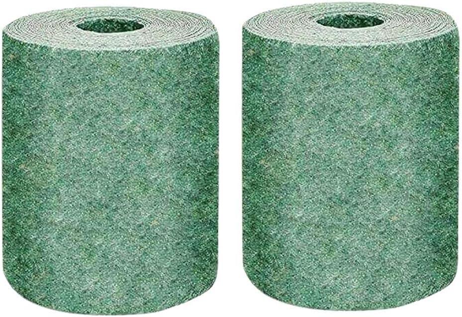 Aiyobucuo 2PCS Biodegradable Grass Seed Mat, Fertilizer Grass Grow Mat, Grass Seed Mat Roll Garden Backyard Plant Growing Solution for Year Round Lawns 10x0.2M