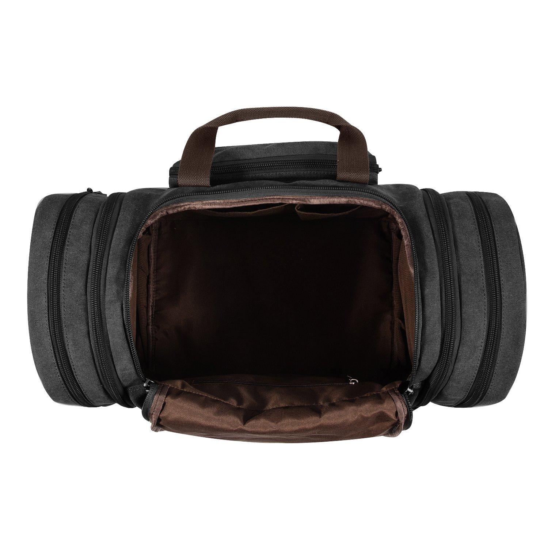 ed9684a042b2 Plambag Canvas Duffle Bag for Travel, Oversized Duffel Overnight Weekend  Bag(Dark Gray)