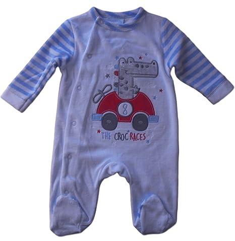 0 - 3 meses - Bebé niños - azul coche de carreras de piel de ...