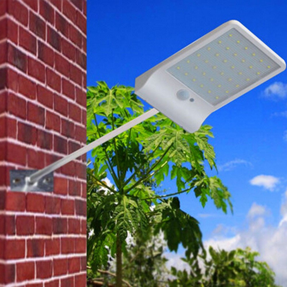 Dressffe 36 LED Solar Motion Sensor Lights Garden Safety Lights QUICK AND SIMPLE INSTALLATION