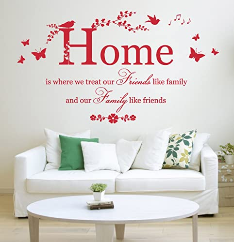 Home is where we treat.\' Cita, vinilo arte de la pared ...