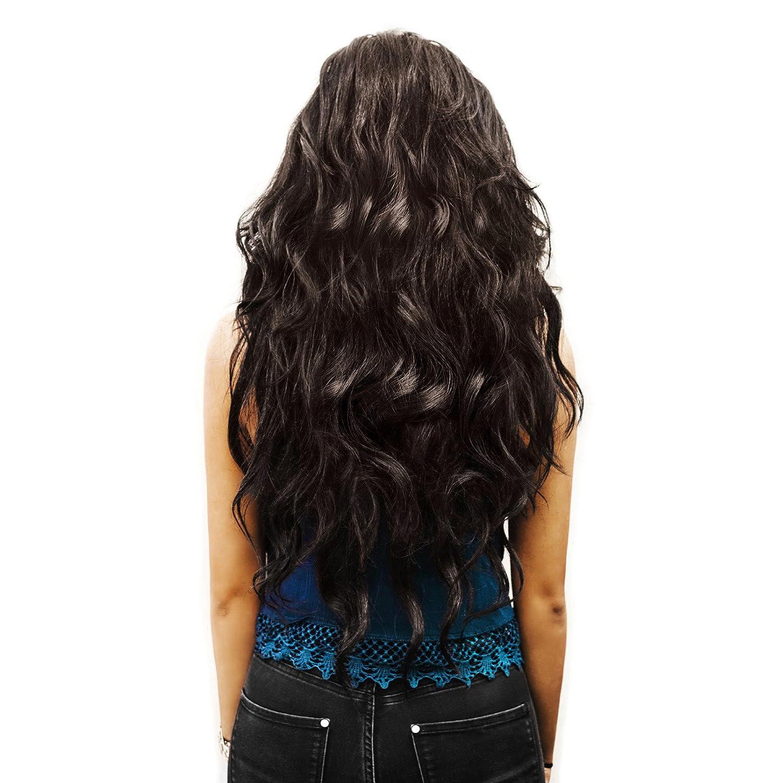 Extensions Haarverlängerung 11 cm in der Farbe braun Frisur Haar Extensions  lange Haare Haarteil