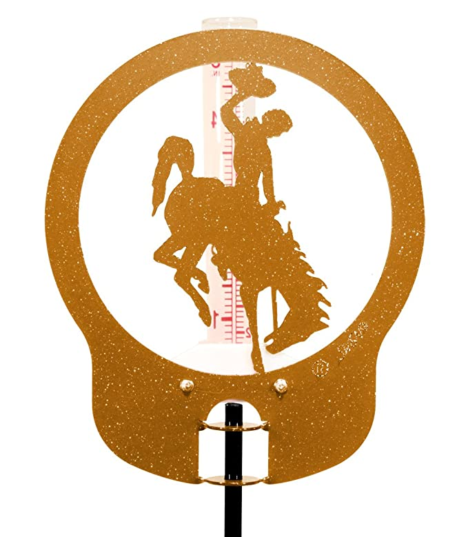 SWEN Products WYOMING BUCKING HORSE Circle Swirly Metal Wind Spinner