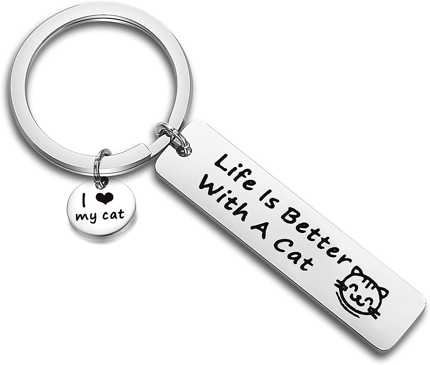 Any Man Father Ideal Present//Gift Someone Special Ragamuffin Cat Daddy Keyring