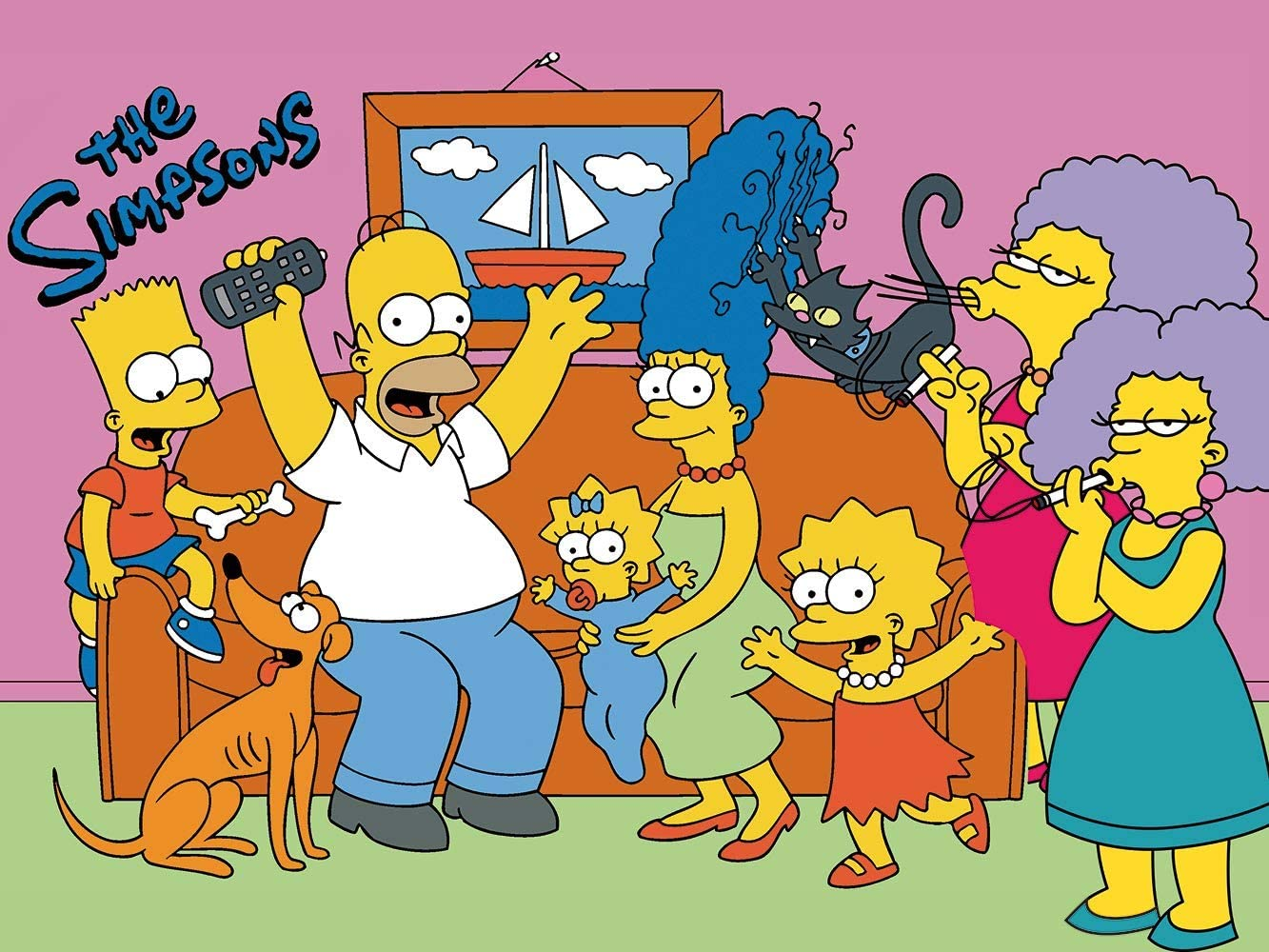 The Simpsons Backdrops Poster Cartoon Funny Family Donut Baby Shower Backgrounds for Birthday Party Photography Background Newborn Photo Studio Booth