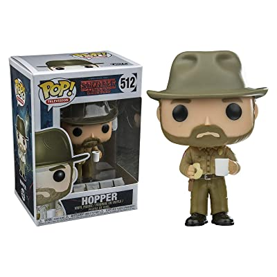 Funko Pop Television: Stranger Things - Hopper with Donut (Styles May Vary) Collectible Figure: Stranger Things: Toys & Games