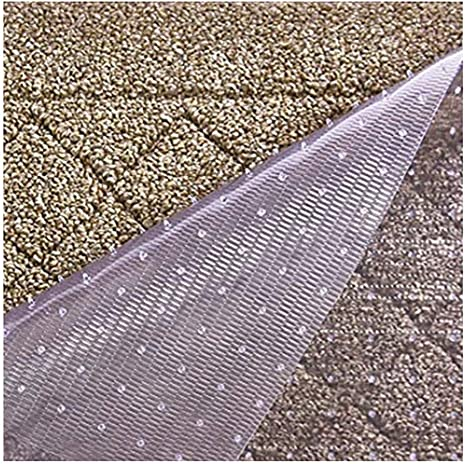 Amazon Com Resilia Premium Heavy Duty Floor Runner Protector For Carpet Floors Non Skid Clear Plastic Vinyl Clear Prism 27 Inches X 12 Feet Kitchen Dining