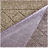 Resilia Premium Heavy Duty Floor Runner/Protector for Carpet Floors – Non-Skid, Clear, Plastic Vinyl, Clear Prism, 27…