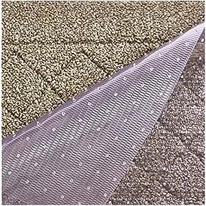Resilia Premium Heavy Duty Floor Runner/Protector for Carpet Floors – Non-Skid, Clear, Plastic Vinyl, Clear Prism, 27 Inches x 25 Feet