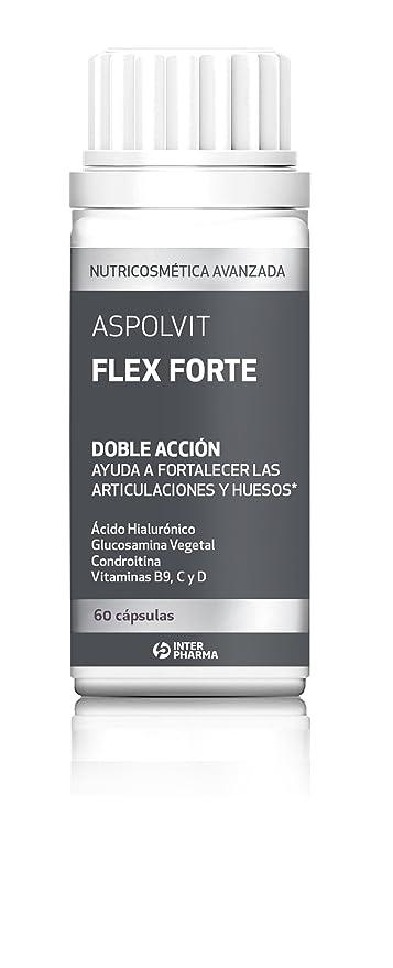ASPOLVIT – Flex Forte Suplemento con ácido hialurónico, vitaminas y glucosamina para mantener la flexibilidad