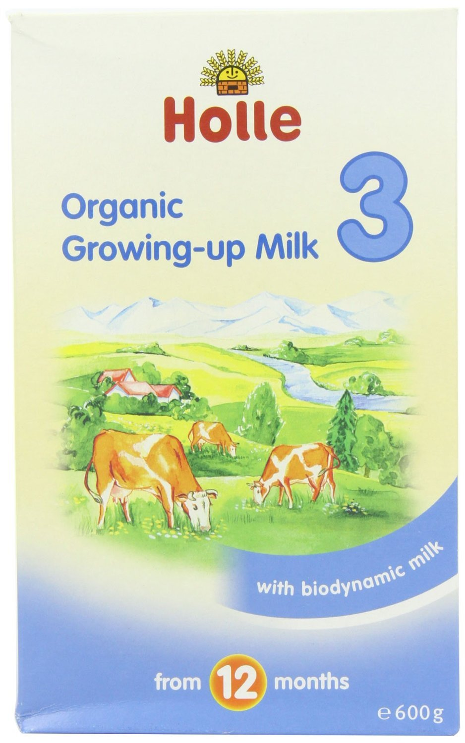 Holle Organic Growing Up Milk 3 600g (Pack of 6)