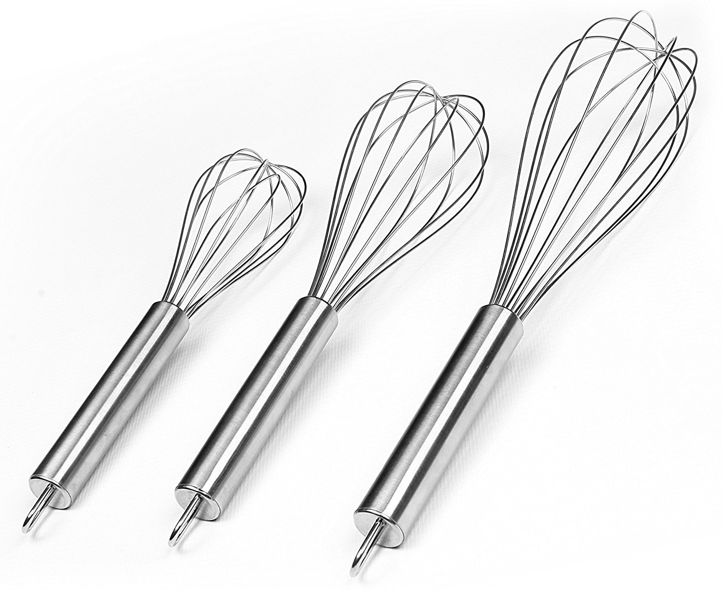 Amazon.com: Stainless Steel Whisk Set - Wire Whisk - Balloon Whisk ...