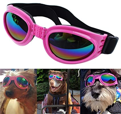 b3c7af946d QUMY Dog Goggles Sunglasses for Dogs Pet UV Sunglasses Eye Wear Protection  Waterproof About Over 15