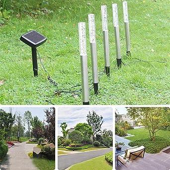 Luces Solares De Césped Para Jardín Luz De Tubo De Acrílico Impermeable Al Aire Libre Luz Solar Alimentada Para Patio Decoración De Patio Blanco 37.1 * 2.2 Cm (3 Piezas): Amazon.es: Iluminación