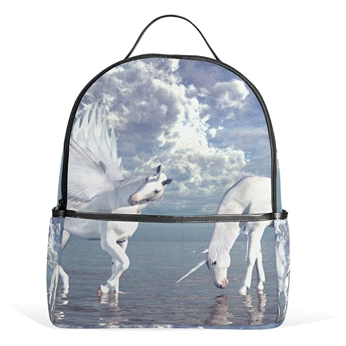 84ebb2e829 JSTEL Unicorn And Pegasus School Backpack 4th 5th 6th Grade for Boys Teen  Girls Kids  Amazon.ca  Clothing   Accessories