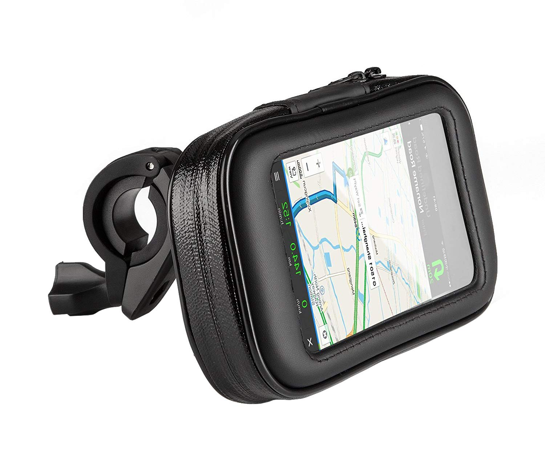 GPS Gr/ö/ße M Noir Phone Star Sacoche de Guidon de v/élo pour Moto Support de t/él/éphone Portable Support de v/élo /étanche et Stable pour Smartphone Navi