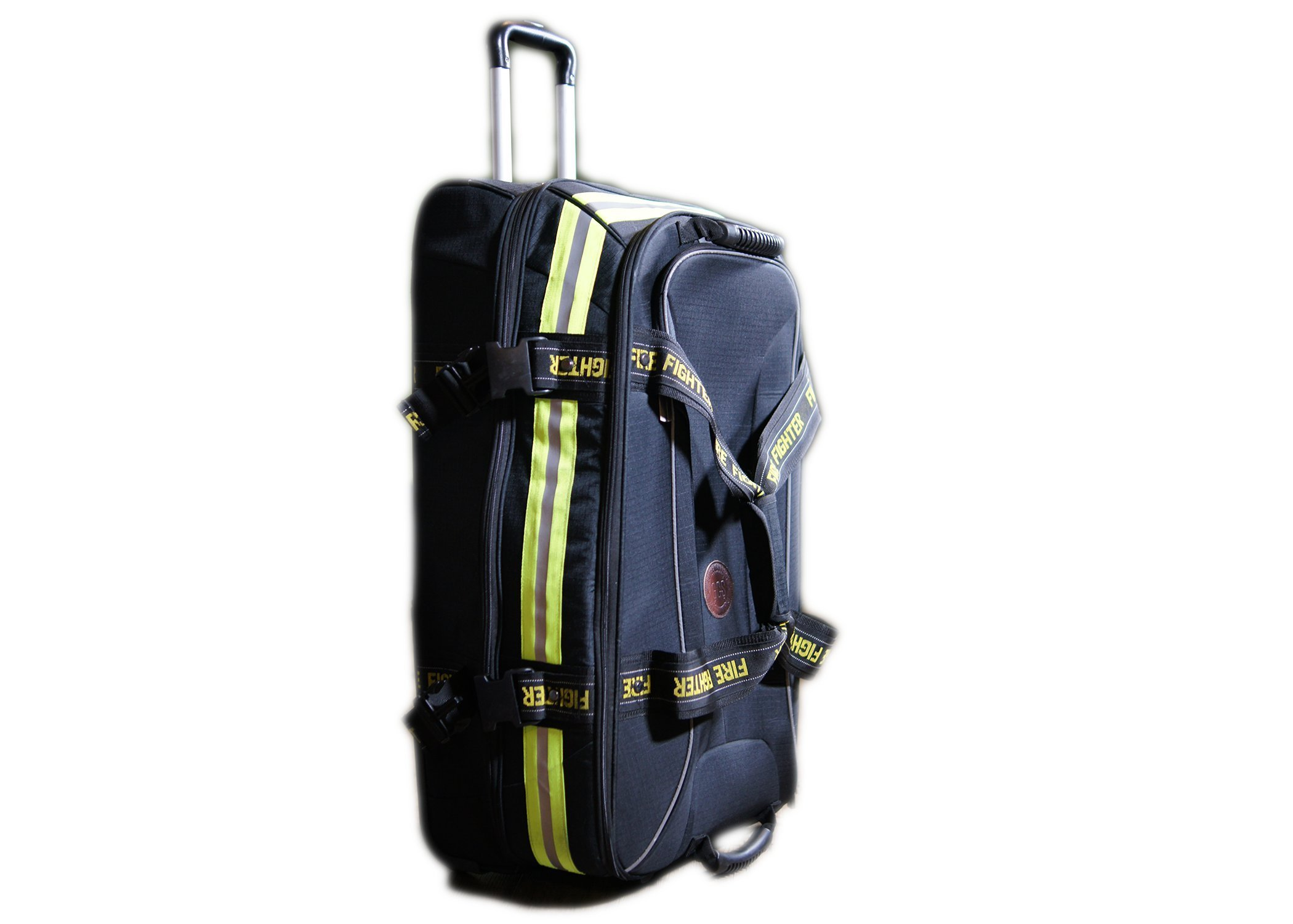 Fireflex Firefighter Rolling Travel Bag (Black)