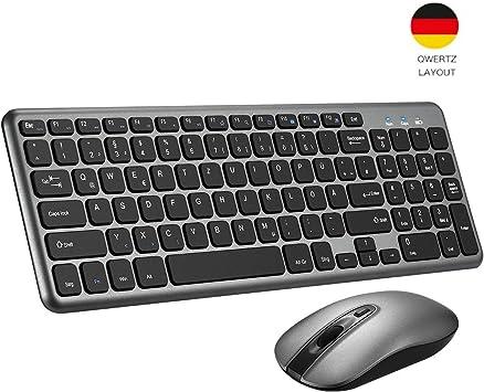 Topelek Draadloos toetsenbord muis set, 2,4 GHz Duits