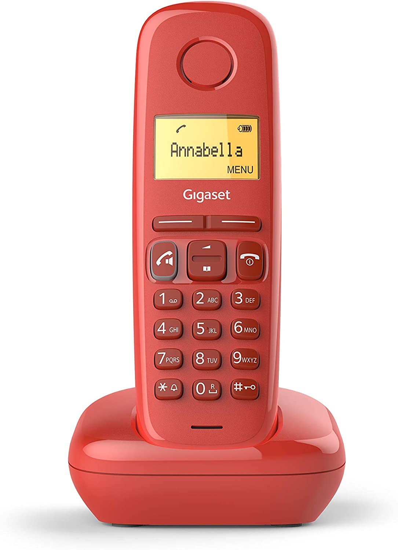 Gigaset A270 - Teléfono inalámbrico manos libres, pantalla iluminada 1.5