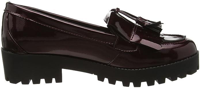 New Look Latch Chunky, Mocasines Mujer, Rojo (burgundy/67), 36 EU (3 UK): Amazon.es: Zapatos y complementos