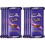Cadbury Dairy Milk Silk Chocolate Bar, 60g (Pack of 8)