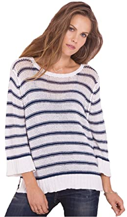 Wooden Ships Easy Peasy 34 Stripe Cotton At Amazon Womens Clothing