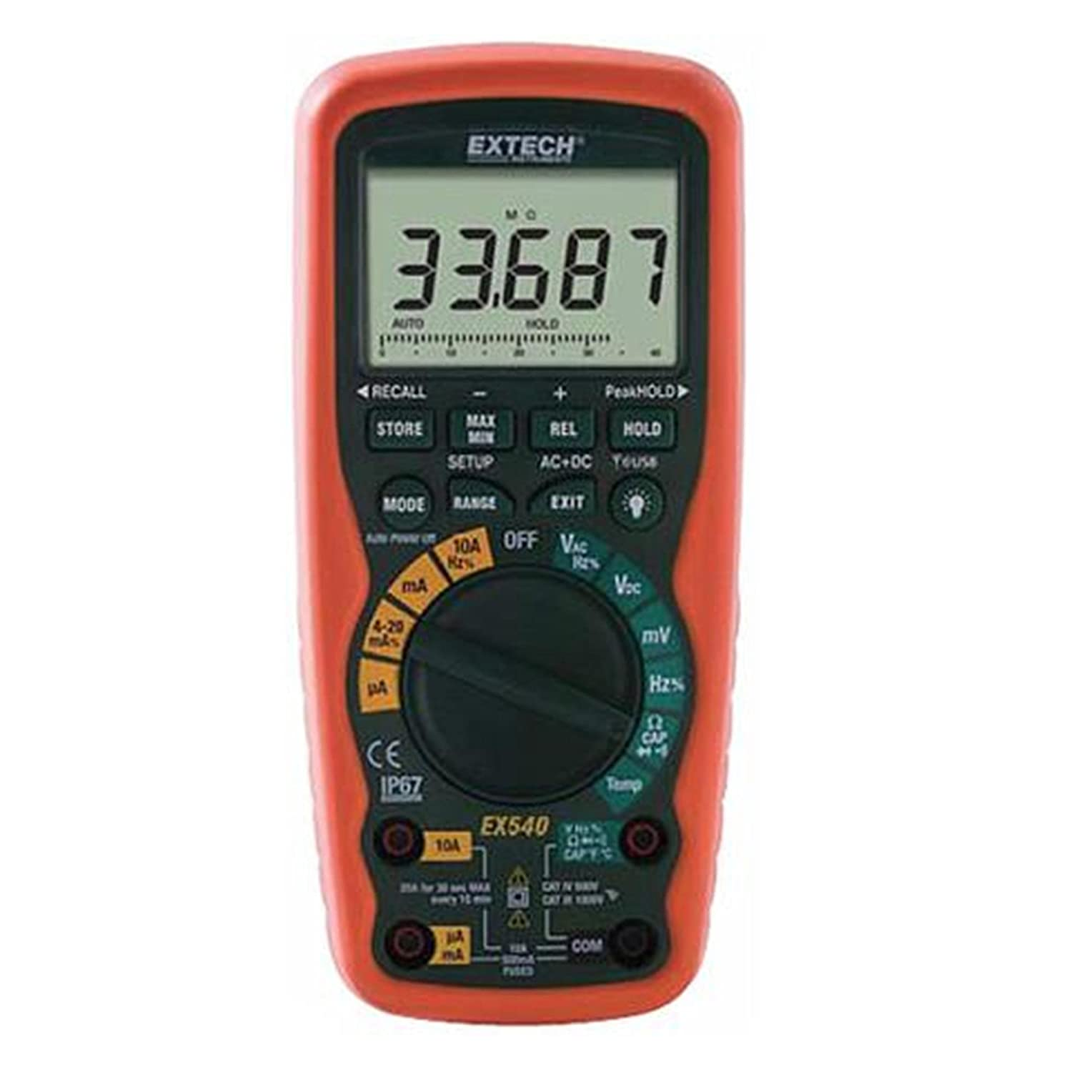 Extech EX540 Wireless 12 Function True RMS Industrial MultiMeter And Datalogger