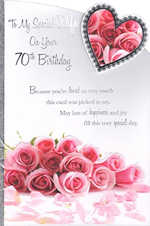 Wife 70th birthday card to my special wife on your 70th birthday wife 70th birthday card to my special wife on your 70th birthday bookmarktalkfo
