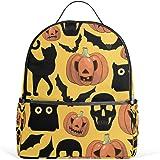 JSTEL Halloween Pumpkins Cats Bats Skulls School Backpack 4th 5th 6th Grade  for Boys Teen Girls c2f67b456eed0