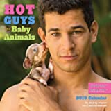 Hot Guys and Baby Animals 2019 Square Wall Calendar