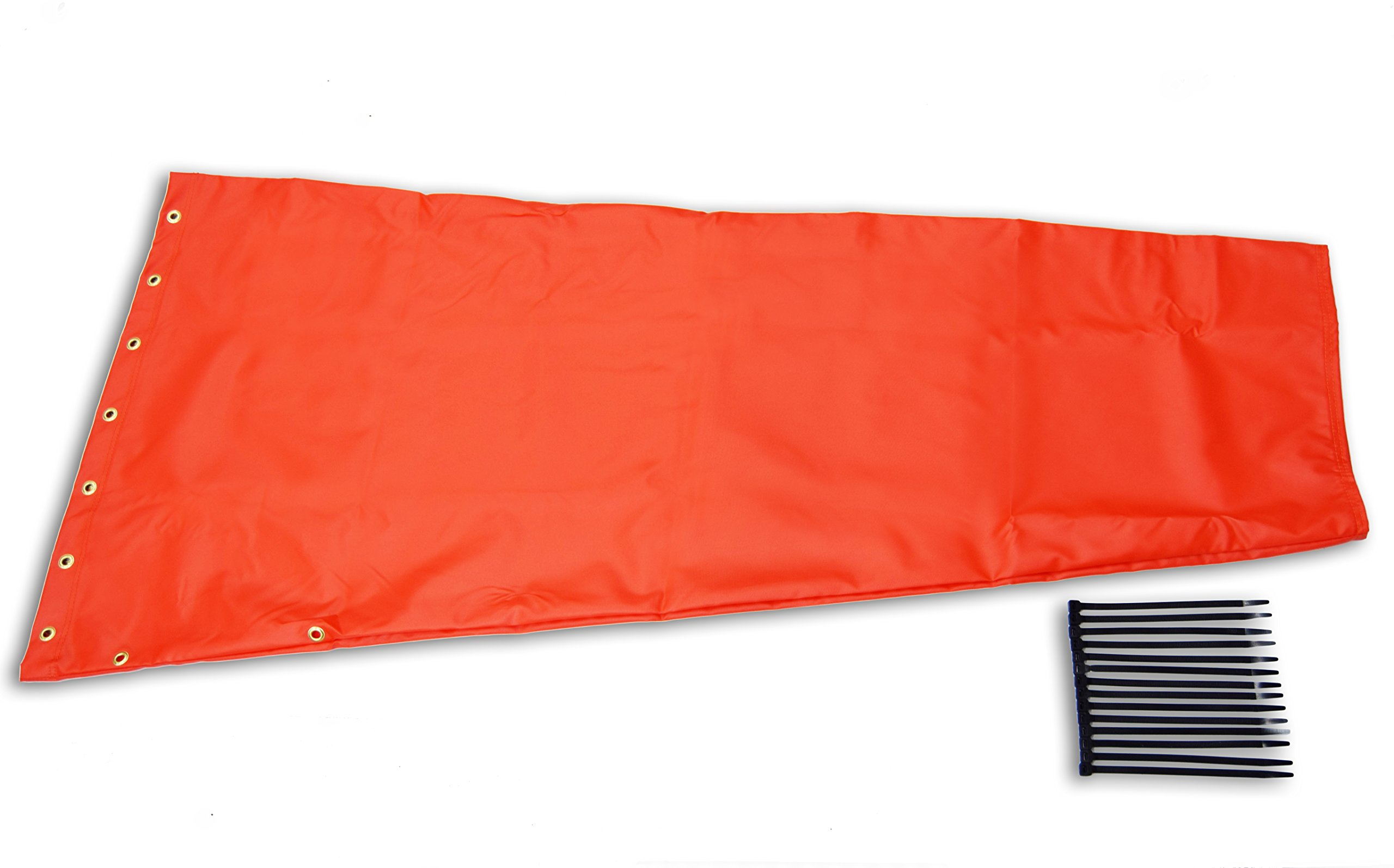 Airport Windsock Corporation 18'' X 60'' Orange Replacement Windsock 100% USA Made
