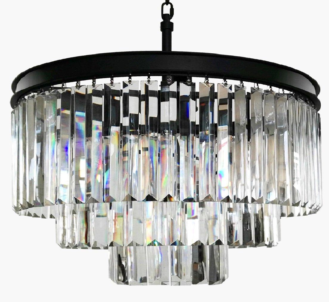 Lumos 7 Lights Luxury Modern/Contemporary Crystal Chandelier Ceiling Light Pendant Light for Dining Room, Living Room … (6 lights) (6 Lights)
