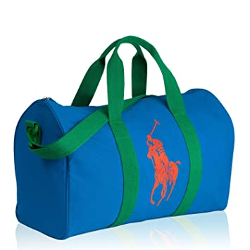 1e325cdf2e Polo Ralph Lauren Men s Holdall Sports Gym Weekend Bag Neon Blue   Amazon.co.uk  Luggage