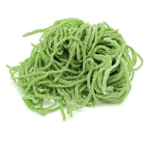 Kicko Sour Apple Licorice Laces - 2 Pounds - 32 Ounces - Bulk Candy - Shoestring Laces for Kids, Party Favors, Snacks, Treats, Gifts, and More