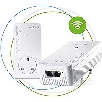 devolo Magic 2 WiFi: Ultimate Powerline Starter Kit with Mesh WiFi, up to 2400 Mbps via powerline, WiFi ac, WiFi anywhere, access point, 2x Gigabit LAN ports, pass-thru socket, enables 4k/8k Streaming